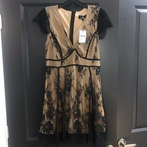 NWT Lulu's black lace dress